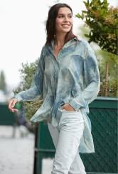 paris-fashion-store-women-blue-print-shirt-suede-fashion-designer-clothes-paris